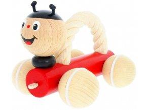 Beruška s lanem hračka ze dřeva Tammy