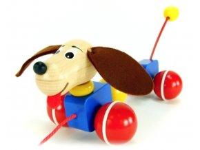 Tahací Pes hračka ze dřeva Lupo