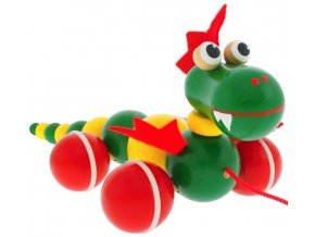 Tahací drak hračka ze dřeva Oscar