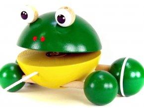 Tahací Žába hračka ze dřeva Eli