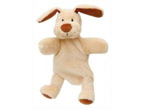 Maňásek s nohama - Pejsek - hračka z textilu