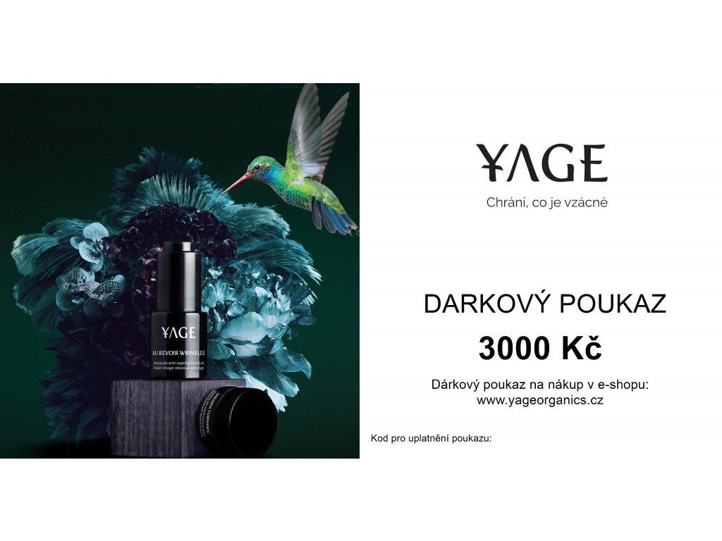 darkový poukaz 3000
