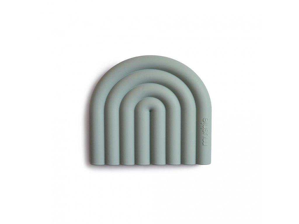 Mushie silikonové kousátko RAINBOW Cambridge blue