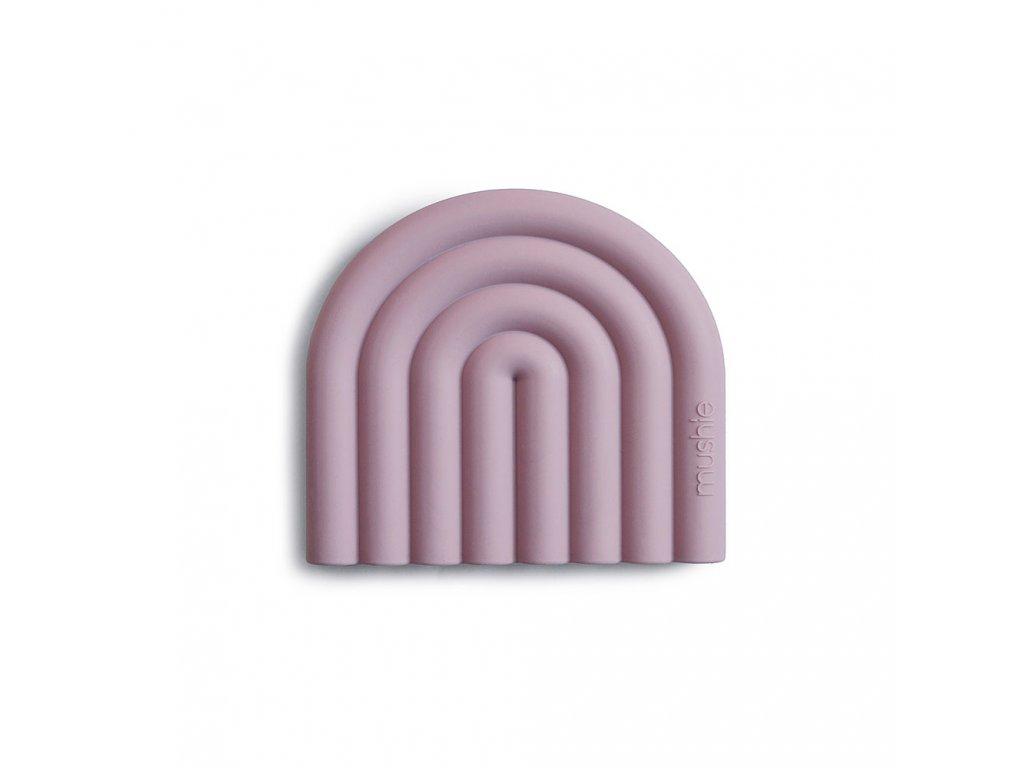 Mushie silikonové kousátko RAINBOW Mauve