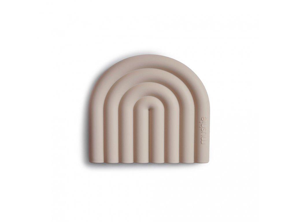 Mushie silikonové kousátko RAINBOW Shifting sand