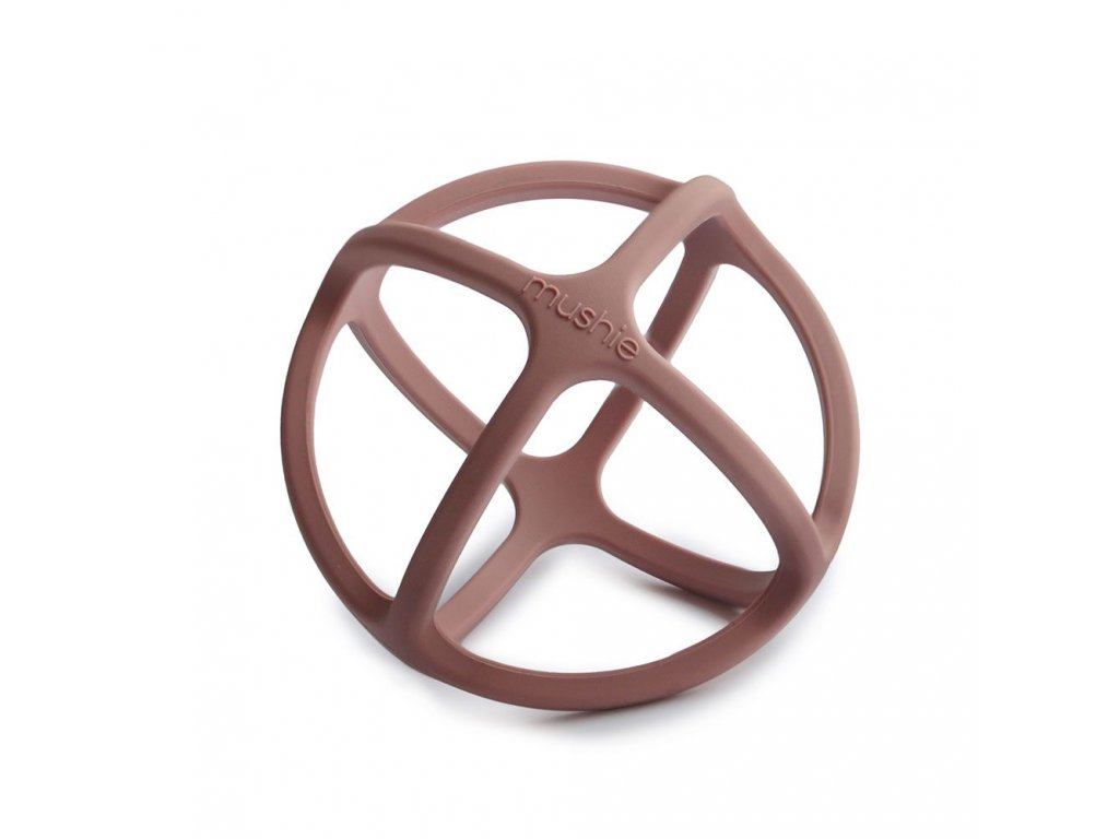Mushie silikonové kousátko BALL - Woodchuck