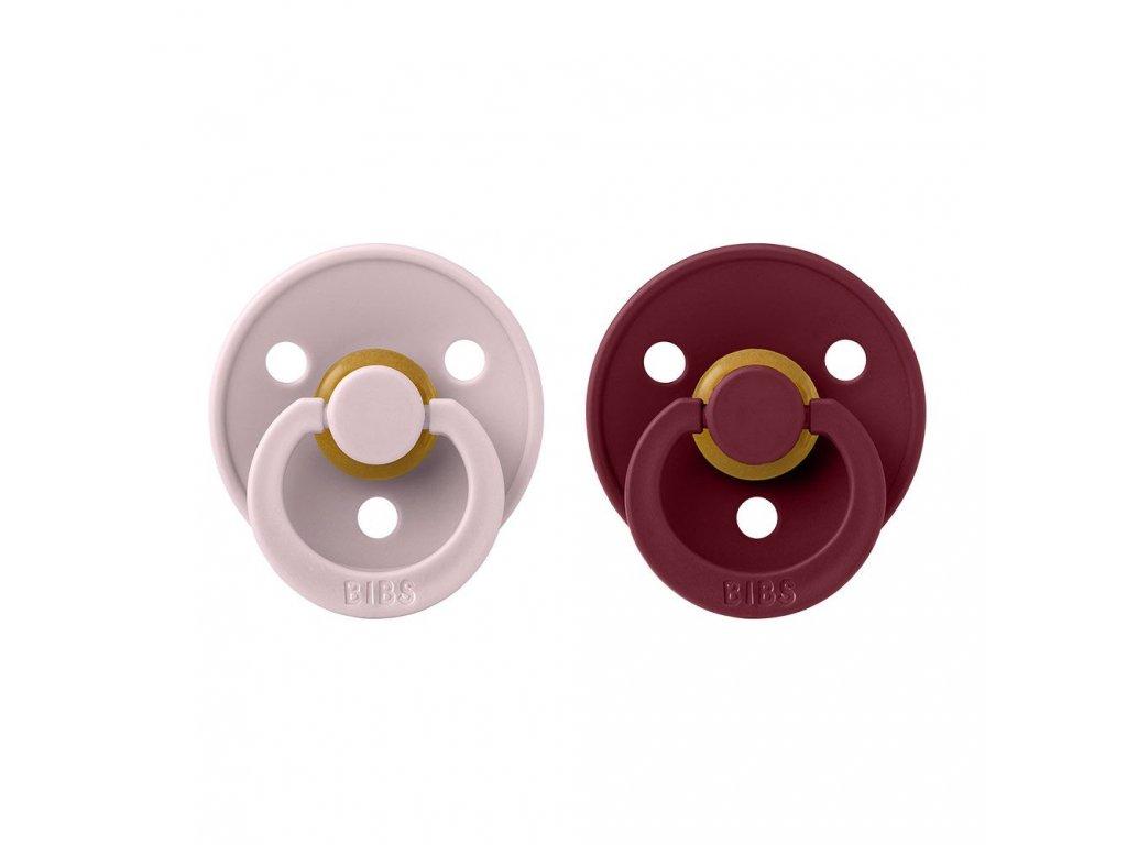 BIBS Colour dudlíky 2ks - Pink Plum/Elderberry
