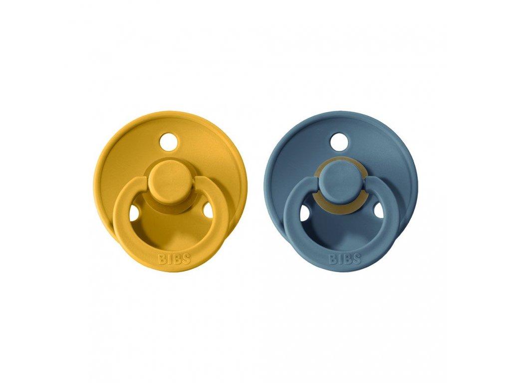 BIBS Colour dudlíky 2ks - Mustard/Petrol