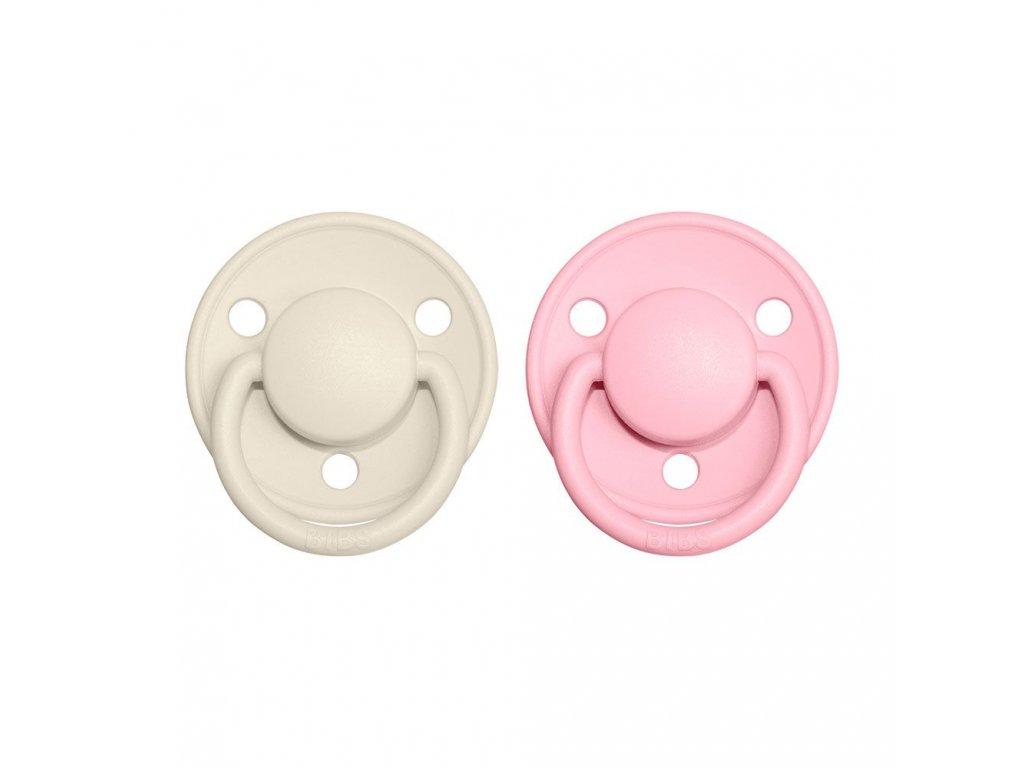 BIBS De Lux dudlíky Ivory/Baby pink