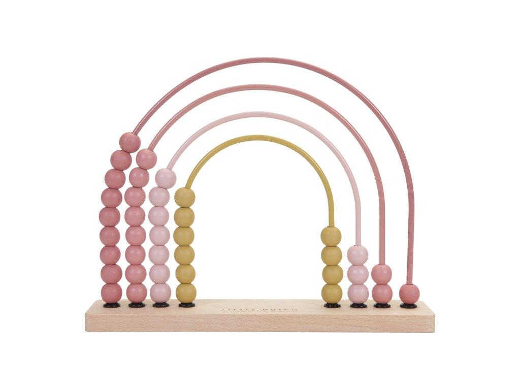 Dřevěné počítadlo pink