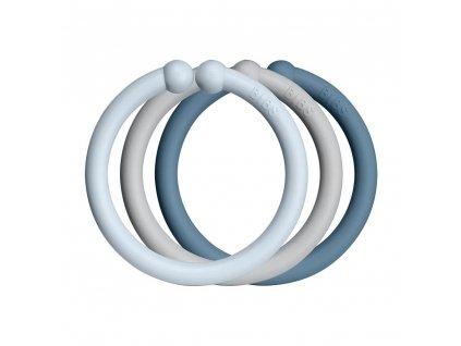 BIBS Loops kroužky 12ks (baby blue-cloud-petrol)