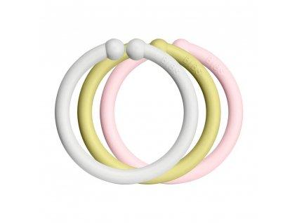 BIBS Loops kroužky 12ks (haze-meadow-blossom)