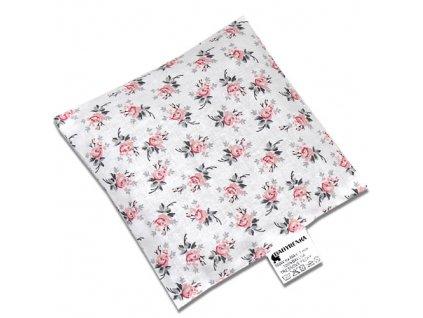 Nahřívací polštářek 15x15 cm z třešňových pecek Rose grey