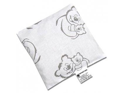 Nahřívací polštářek z třešňových pecek Medvídci