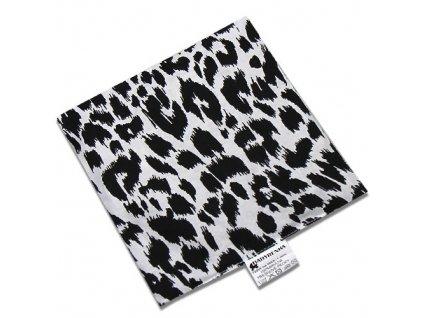 Nahřívací polštářek z třešňových pecek Leopard