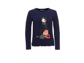 Girl s knitted long sleeve T shirt