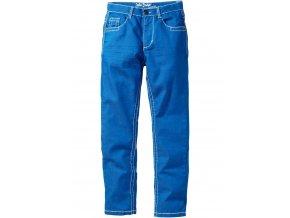 Slimfit kalhoty se zmač.efekty azurově modrá