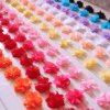 12pcs flowers 3D Chiffon Cluster Flowers Lace Dress Decoration Lace Fabric Applique Trimming Sewing Supplies (2)
