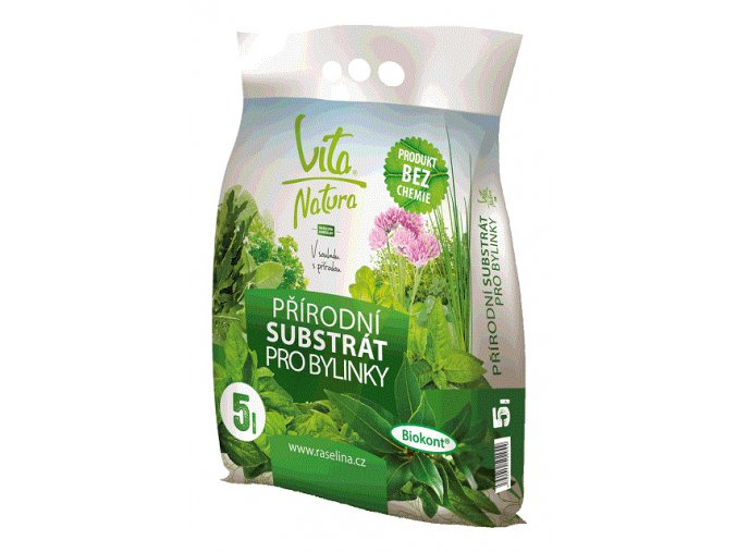 Přírodní substrát pro bylinky