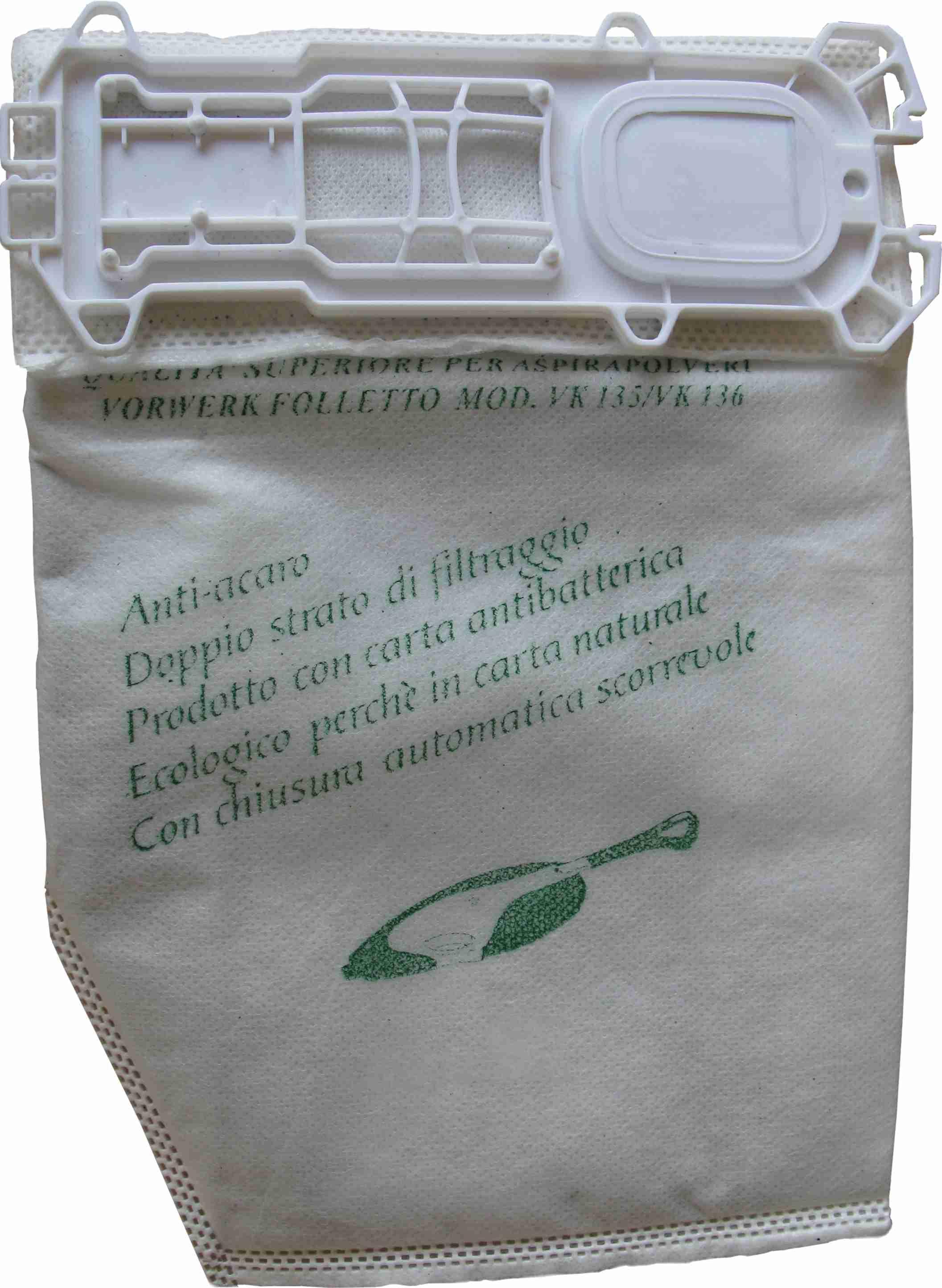 Filtračné vrecká a aktívny pachový filter VK135 / VK 136 / VK 140