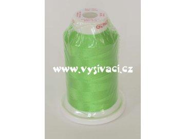 vyšívací nitě Gunold Sulky 1510 zelená, návin 1000m, viskóza