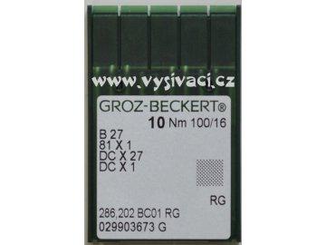 jehla B27 100 RG Groz-Beckert, balení 10ks nebo 100ks
