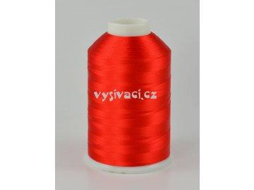 vyšívací nitě červená ROYAL C717 návin 5000 metrů viskóza