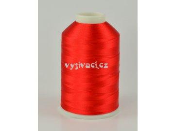 vyšívací nitě červená ROYAL C038 návin 5000 metrů viskóza