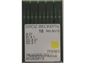 jehla B27  80 SES Groz-Beckert, balení 10ks nebo 100ks