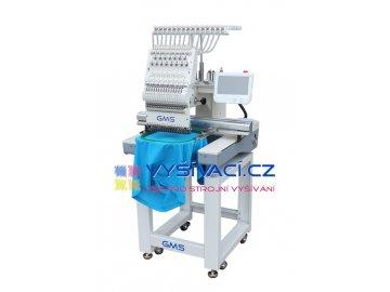 vyšívací stroj GMS-FT1501L průmyslový jednohlavový 15-ti jehlový  + ZDARMA: balíček spotřebních materiálů a nití!