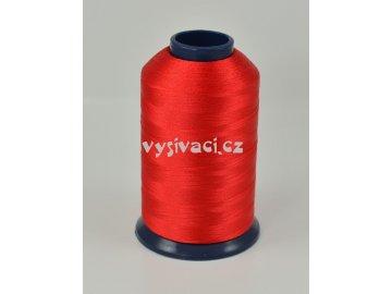 vyšívací nit červená ROYAL P050 5000m polyester