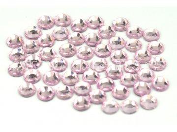 105 N Rose světlý barva světle růžová nažehlovací hot fix kamínky na textil