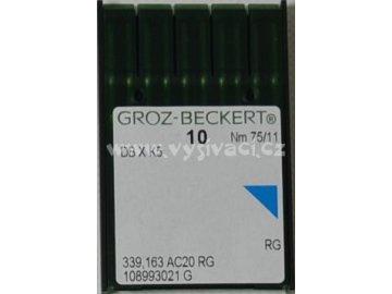 jehla DBxK5 75 RG - standardní vyšívání, balení 10ks nebo 100ks