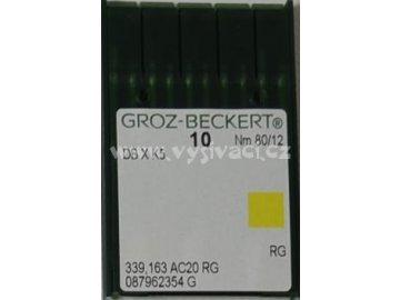 jehla DBxK5 80 RG - standardní vyšívání, balení 10ks