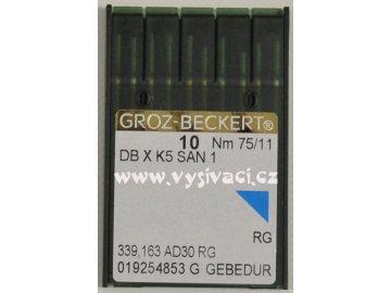 jehla DBxK5 75 SAN1 GEBEDUR - vyšívání čepic, balení 10ks