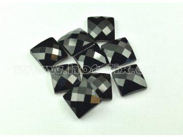 tvarové epoxy hot fix kameny na textil čtverec 12x12 barva černá