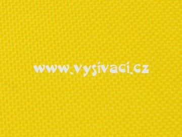 RASOX materiál pro vyšívání nášivek a aplikací 100% polyester, barva č. 150 žlutá