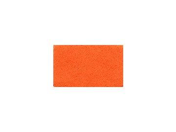 FILC pro vyšívání nášivek a aplikací, tloušťka cca 1mm, barva č. 155 oranžová DOPRODEJ ZBYTKU cca 96x112cm