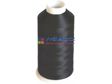 Vyšívací nit viskózová černá C200
