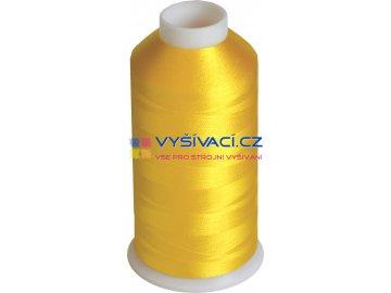 Vyšívací nit viskózová žlutá C010