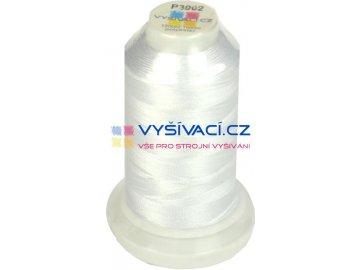 polyesterová vyšívací nit P3002 bílá 1000m