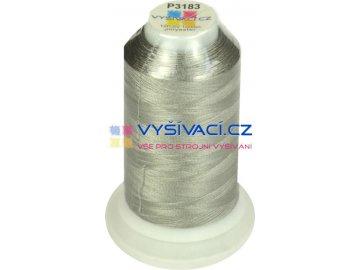 vyšívací nit polyester barva šedá P3183 návin 1000m  33,30 Kč s DPH za kón při nákupu balení 10 kusů