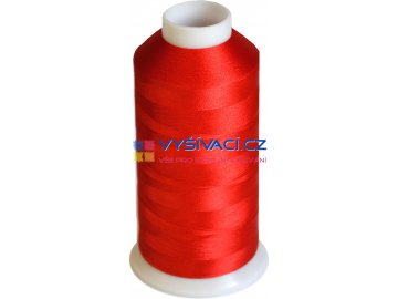 Vyšívací nit polyesterová P3065 červená