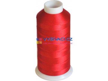 Vyšívací nit polyesterová P3067 červená