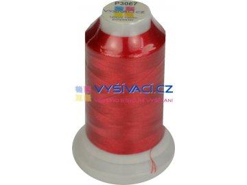polyesterová vyšívací nit P3067 červená 1000m