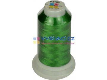 vyšívací nit polyester barva zelená P3166 návin 1000m  36,30 Kč s DPH za kón při nákupu balení 10 kusů