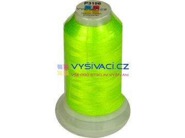 vyšívací nit polyester barva žlutozelená fluo P3196 návin 1000m  36,30 Kč s DPH za kón při nákupu balení 10 kusů