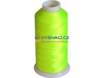 Vyšívací nit polyesterová P3196 fluo žlutozelená
