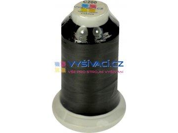 vyšívací nit černá C200 návin 1000m viskóza  36,30 Kč s DPH za kón při nákupu balení 10 kusů