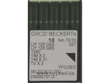jehla UY128  70 SES Groz-Beckert, balení 10ks nebo 100ks